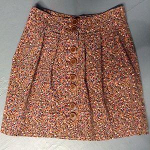 elevenses ANTHROPOLOGIE velvet confetti skirt S